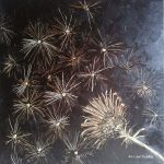 Thistle Seed 2 - Oil on canvas 50x50x5cm