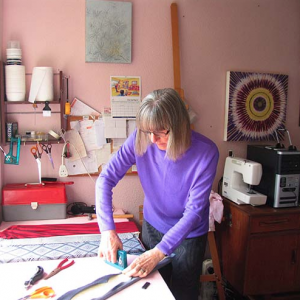 Helen Owen working in her studio