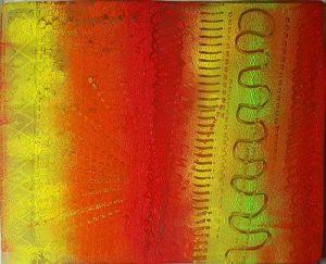 Gelli plate paint trials