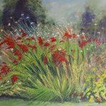 'Midsummer in Haden Hill Park' Acrylic on canvas 80 x 60 x 5cm