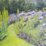 'Midsummer in Haden Hill Park 2' Acrylic, mixed media on canvas 60 x 40 x 5cm